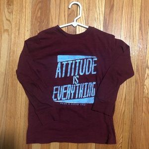 Cat & Jace Burgundy/Maroon Long Sleeve Shirt
